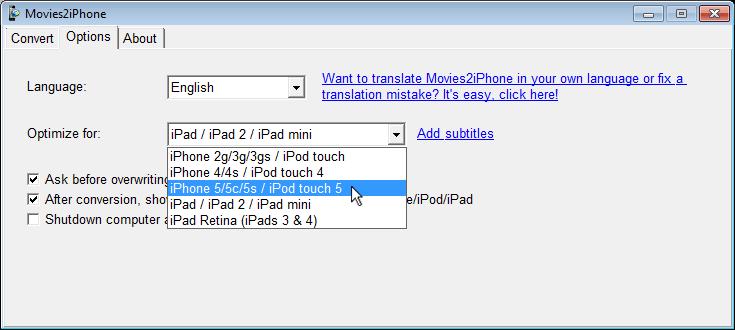 WINDOWS XP MOVIES2IPHONE POUR TÉLÉCHARGER